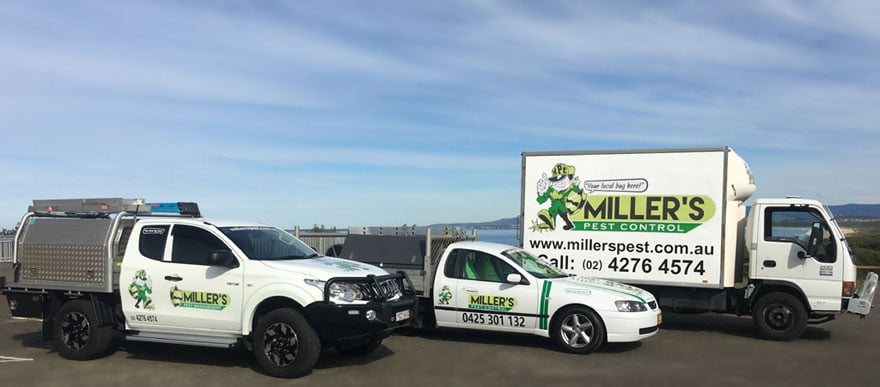 Miller's Pest Control Vehicles