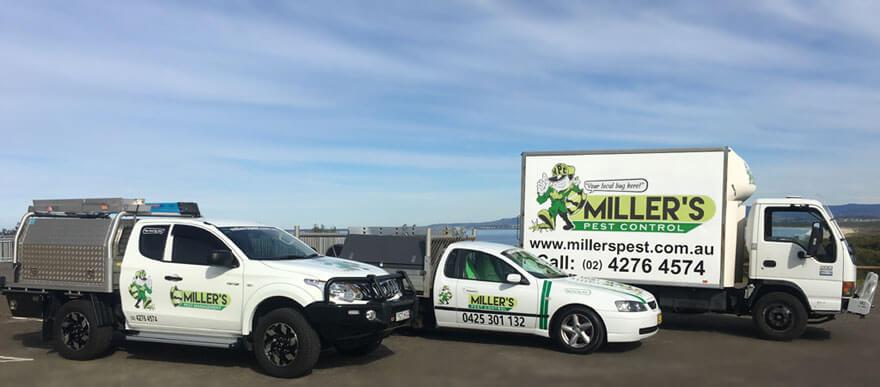 Miller's Pest Control - Pest Control Service Vehicles